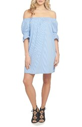 1.State Women's Off The Shoulder Shirtdress