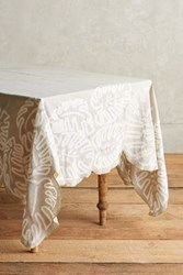 Anthropologie Ribboned Fronds Tablecloth Grey