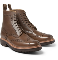 Grenson Fred Grained Leather Brogue Boots