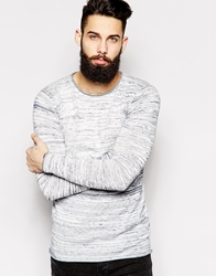 Only And Sons Spacedye Knitted Crew Neck Jumper Lightgrey
