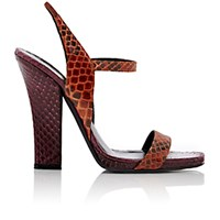 Narciso Rodriguez Women's Sling Sandals Burgundy