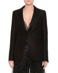 Red Valentino One Button Boxy Tuxedo Jacket Black Women's