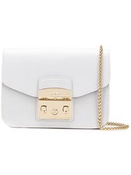 Furla Metropolis Mini Crossbody Bag Grey