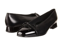 Ara Bel Black Nappa W Patent Tip Women's Slip On Dress Shoes