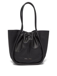 Proenza Schouler Ruched Leather Tote Black