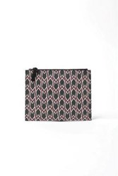 Maje Woman Sumo Printed Coated Canvas Pouch Brick