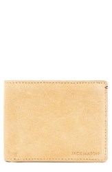 Jack Mason Men's Suede And Leather Wallet