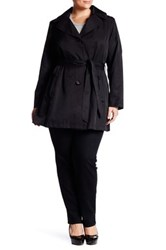 Via Spiga Scarpa Hooded Raincoat Plus Size Black