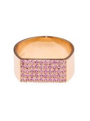 Dina Kamal Dk01 Sapphire And Yellow Gold Id Ring