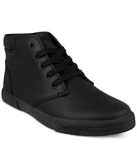 Nautica Breakwater Lace Up Sneakers Shoes Black Black