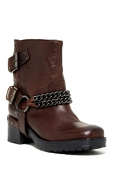 Janet And Janet Brixton Short Moto Boot Brown
