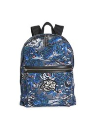 Kenzo Flying Tiger Nylon Backpack Periwinkle