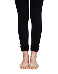 Lemon Solid Bodycon Leggings Black