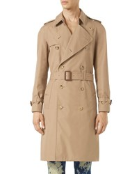 Gucci Tiger Embroidered Trenchcoat Neutral Pattern