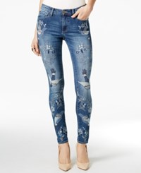 Buffalo David Bitton Faith Embroidered Birdys Wash Skinny Jeans