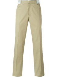 Alexander Mcqueen Straight Leg Chinos Nude And Neutrals