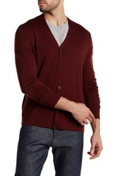 Theory Long Sleeve Cardigan Red