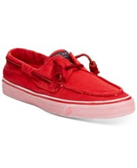 Sperry Bahama Canvas Boat Shoes Women's Shoes Washed Red