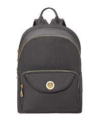 Baggallini Brussels Laptop Backpack Charcoal Grey
