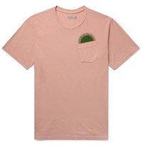 Mollusk Country Sun Printed Cotton Jersey T Shirt Blush