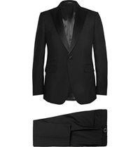 Berluti Black Slim Fit Wool And Mohair Blend Tuxedo