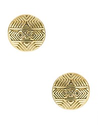 House Of Harlow Mosaic Stud Earrings Gold