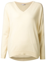 Brunello Cucinelli V Neck Sweater Yellow And Orange