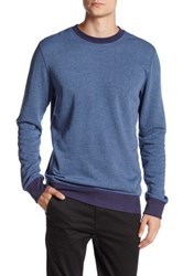 Benson New York Two Tone Side Zip Pullover Blue
