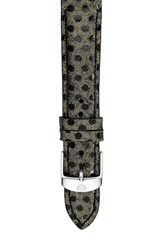Michele Women's 16Mm Reptile Dot Leather Strap