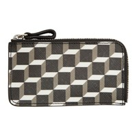 Pierre Hardy Black And White Canvas Cube Cardholder