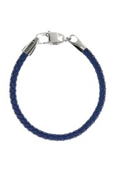 Guess Tough Leather Bracelet Navy