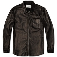 Our Legacy Leather Zip Shirt Black Horse Hide