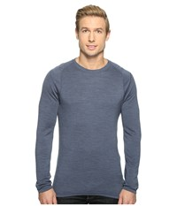 Smartwool Nts Mid 250 Crew Top Dark Blue Steel Heather Men's Long Sleeve Pullover