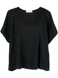 Lilly Sarti Wide Sleeves Blouse Cotton Black