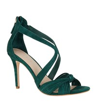 Sandro Suede Bow Sandals Green