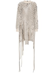 Alyx Palma Mesh Jumper Dress Nude And Neutrals
