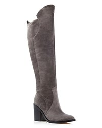 Sigerson Morrison Bambina High Heel Tall Boots Gray