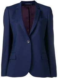 Paul Smith Ps Navy Fitted Blazer Blue