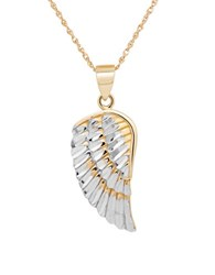 Lord And Taylor 14K Yellow Gold Angel Wing Pendant Necklace