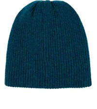 The Elder Statesman Men's Rib Knit Cashmere Beanie Turquoise