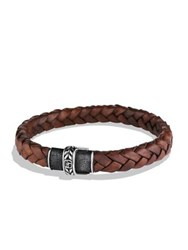 David Yurman Chevron Woven Leather Bracelet