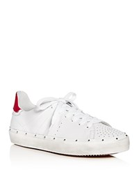 Rebecca Minkoff Michell Lace Up Sneakers White