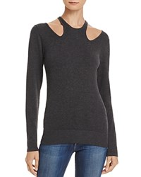 Minnie Rose Cutout Sweater Charcoal