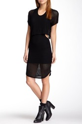 Riller And Fount Felipe Cutout Double Layered Mesh Dress