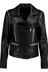 Dkny Leather Biker Jacket Black