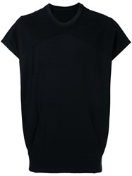 Julius Short Sleeve Sweater Men Cotton 1 Black