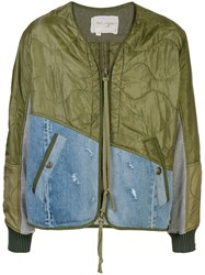 Greg Lauren Contrast Panel Bomber Jacket 60