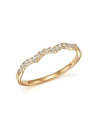 Bloomingdale's Diamond Stackable Band Ring In 14K Yellow Gold .15 Ct. T.W.
