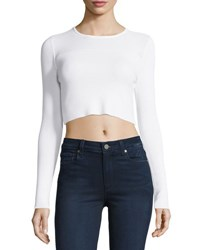 Kendall Kylie Cropped Knit Sweater White