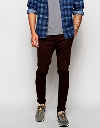 Pull And Bear Pullandbear Skinny Fit Chinos Brown